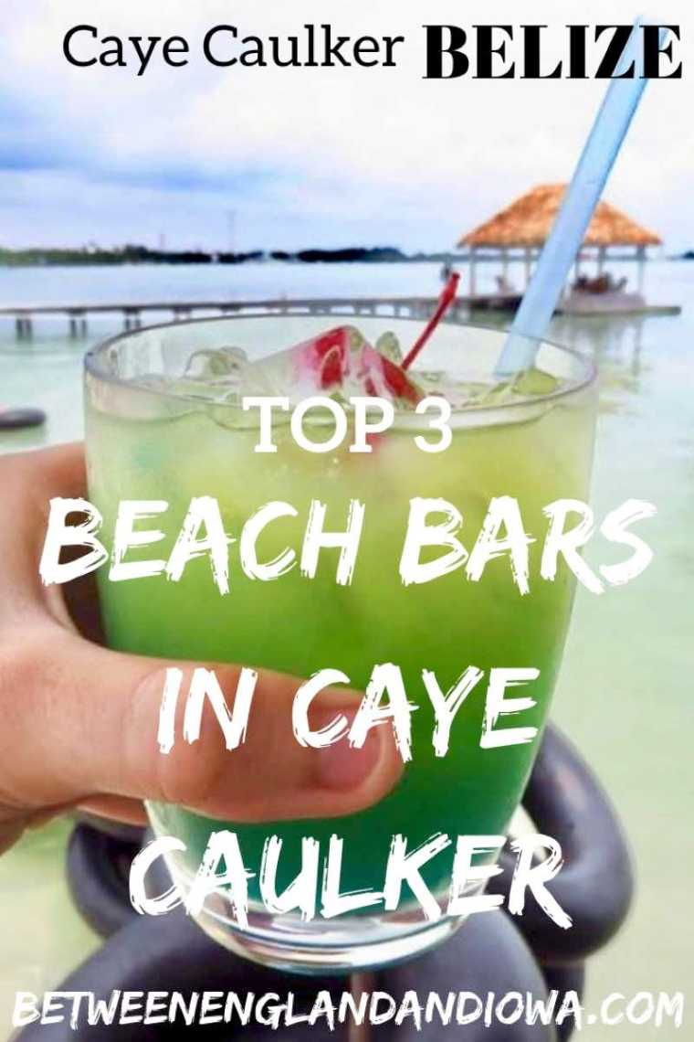 The top 3 beach bars in Caye Caulker Belize. Check out these 3 amazing Caye Caulker bars complete with swings and hammocks, what more could you want?!