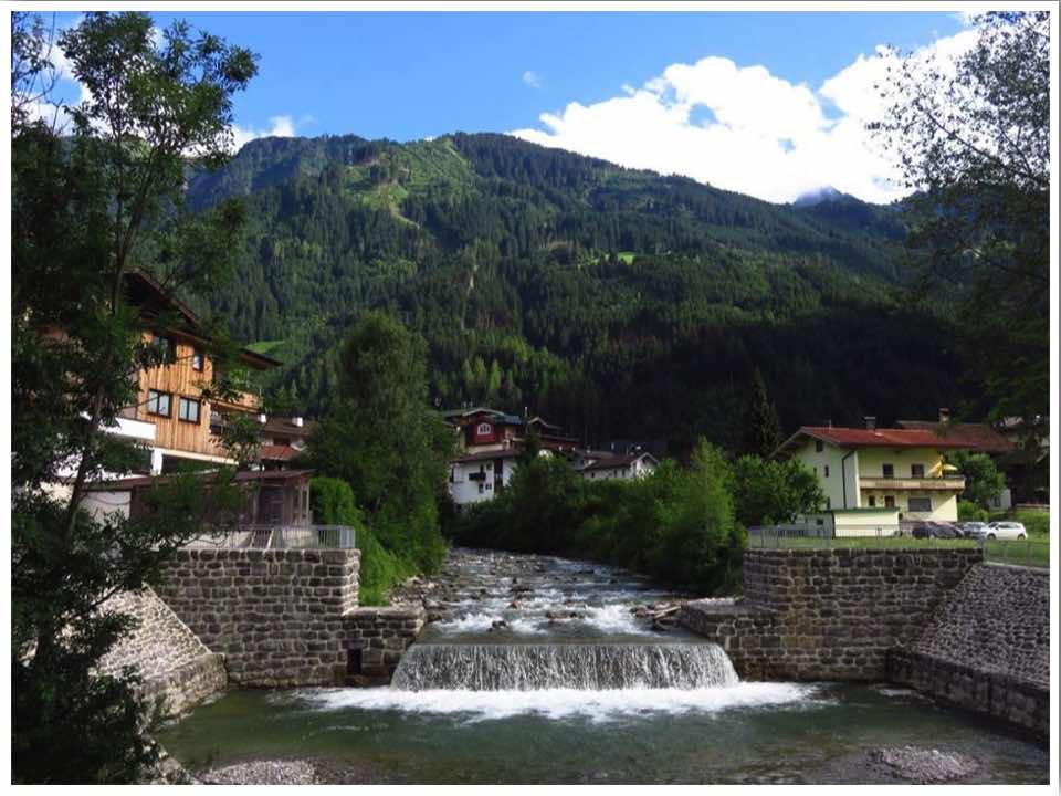 Mayrhofen Austria in July