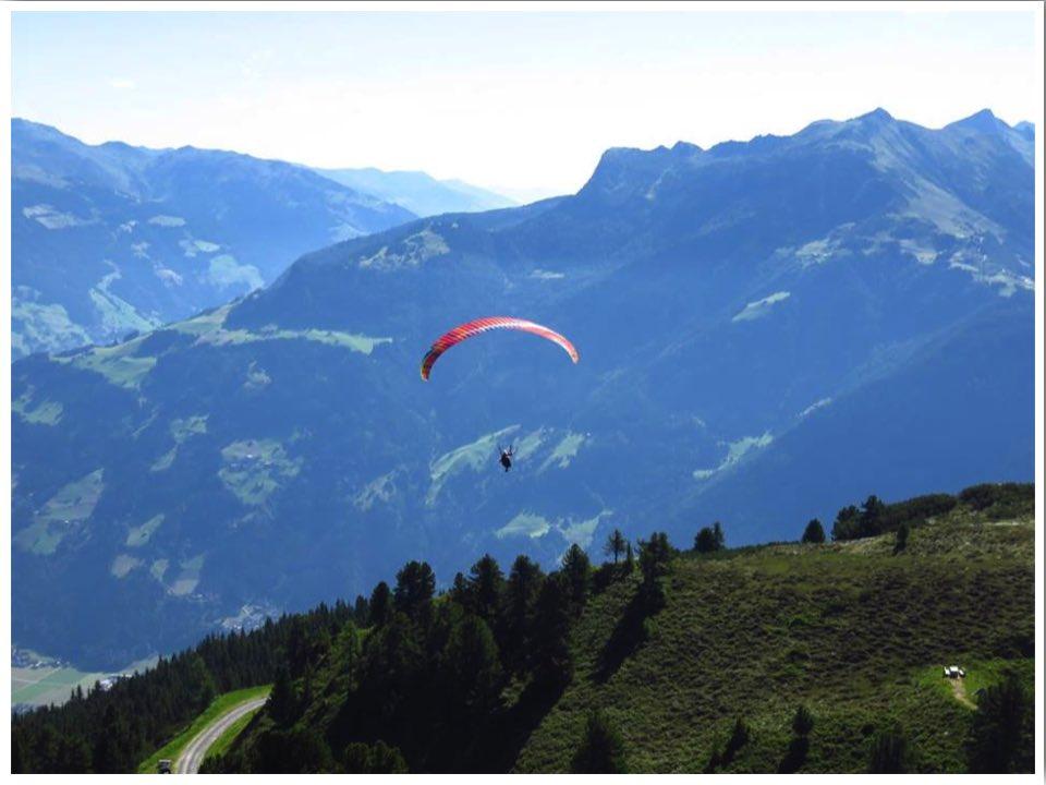 Mayrhofen summer paragliding