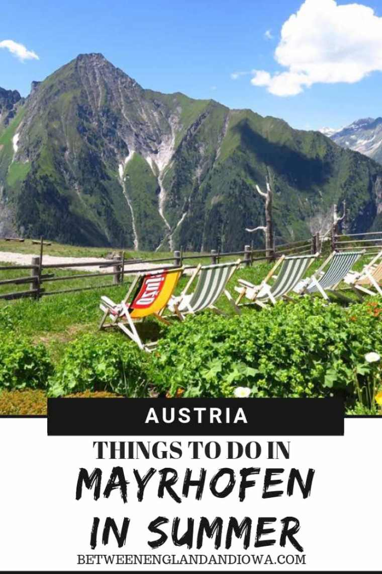 Located in the Zillertal Valley, here are 10 things to do in Mayrhofen Austria! Click for Mayrhofen summer travel inspiration!