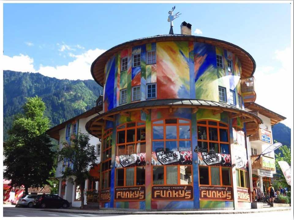 Mayrhofen village Austria