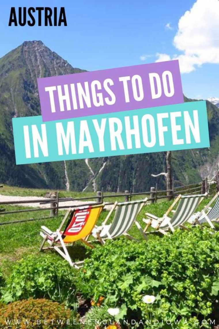 Things to do in Mayrhofen Austria in Summer