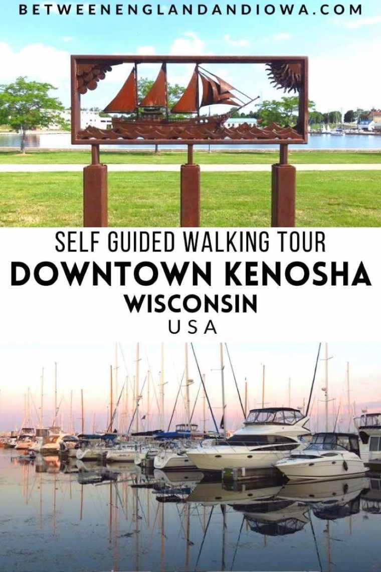 Self Guided Walking Tour of Downtown Kenosha Lakefront WI USA