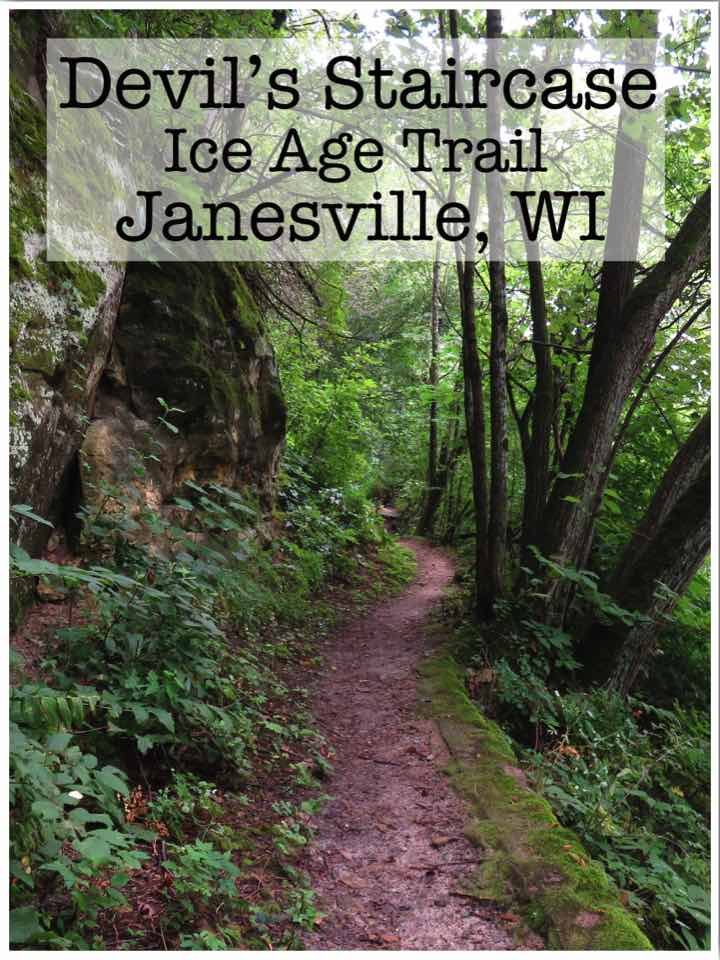 Hiking Devil's Staircase Ice Age Trail Janesville Wisconsin