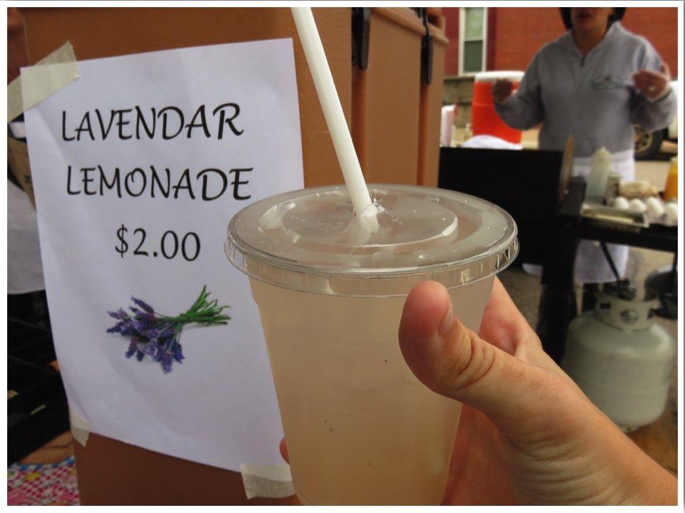 Dubuque Farmers' Market Lavender Lemonade