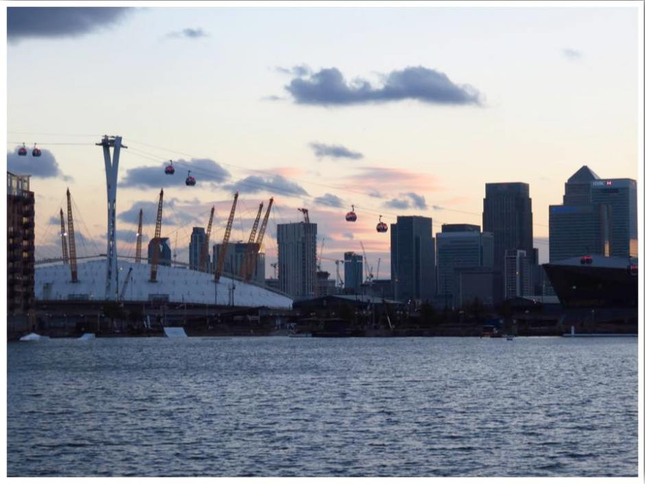 O2 Arena and London Skyline