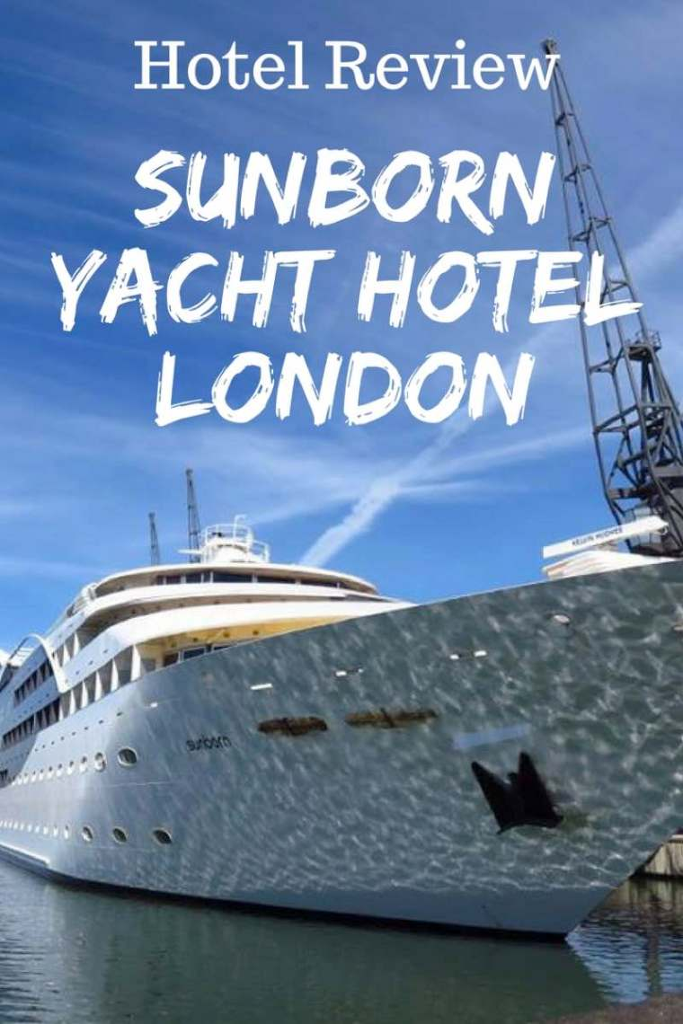 Sunborn Yacht Hotel London Review. Did you know you can stay on a luxury yacht in London?! #yachthotel #london