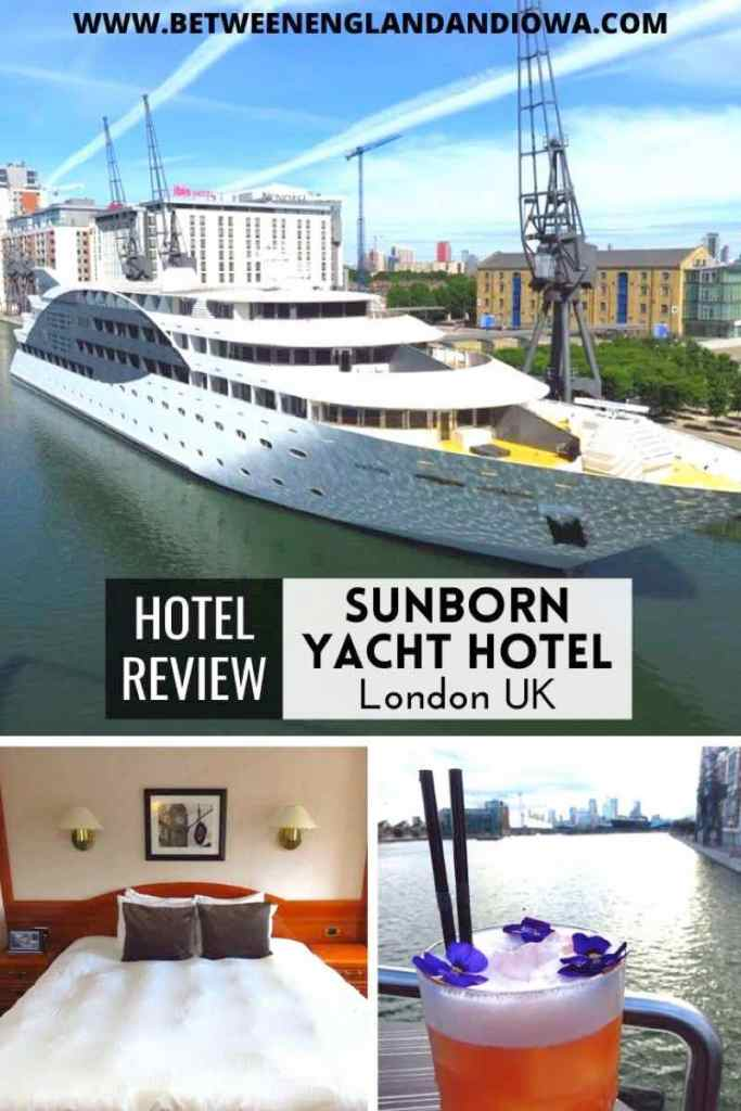 Sunborn Yacht Hotel Review London UK