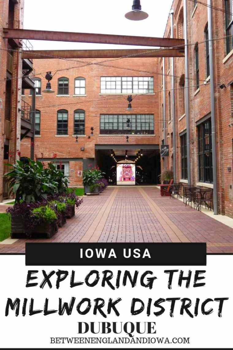 Millwork District Dubuque Iowa.  Explore the coolest area in Downtown Dubuque with cute cafes, restaurants and breweries!