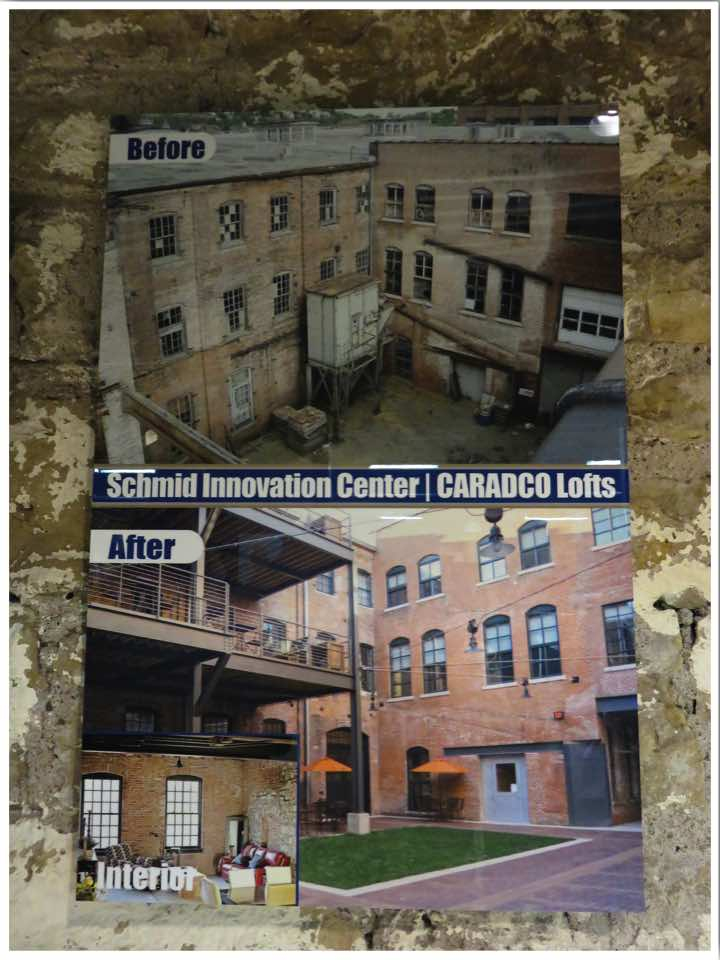 Millwork District Dubuque Before and After