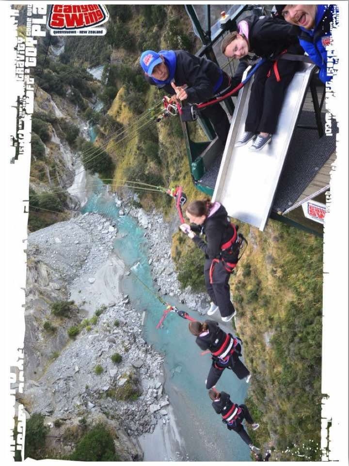 Shotover Canyon Swing Queenstown NZ