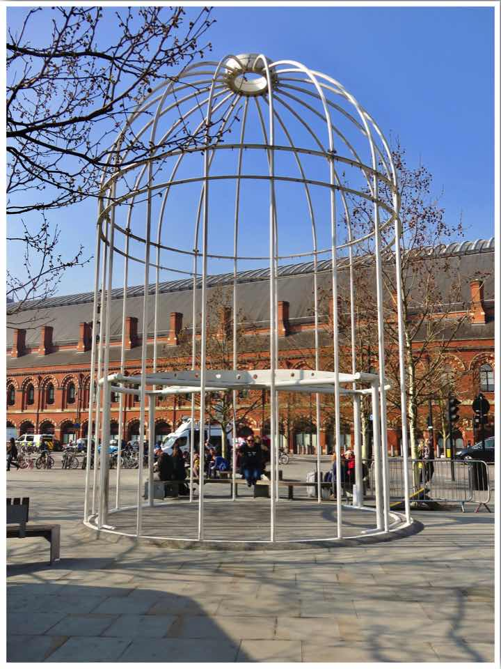 London Kings Cross bird cage swing