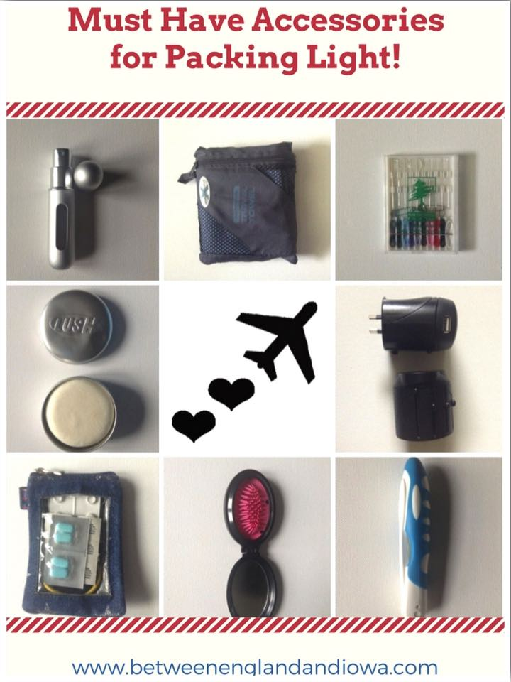 Must Have Accessories for Packing Light