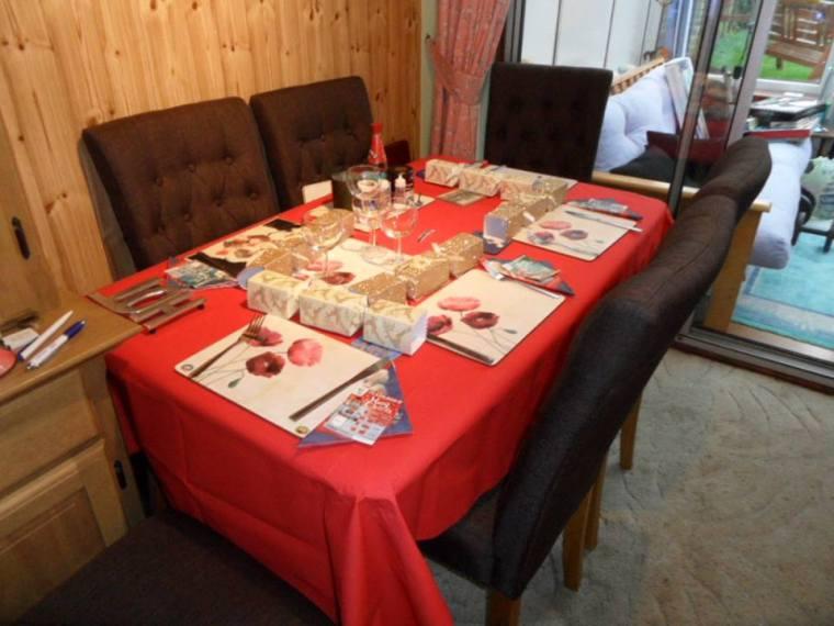 British Christmas Day Dinner Table
