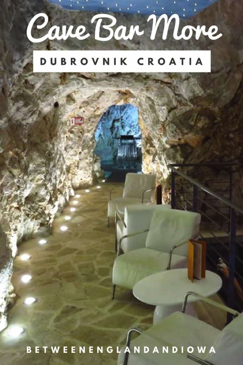 Did you know there is a bar in a cave in Dubrovnik?! Cave Bar More in Lapad Croatia is a unique place for a beer or cocktail!