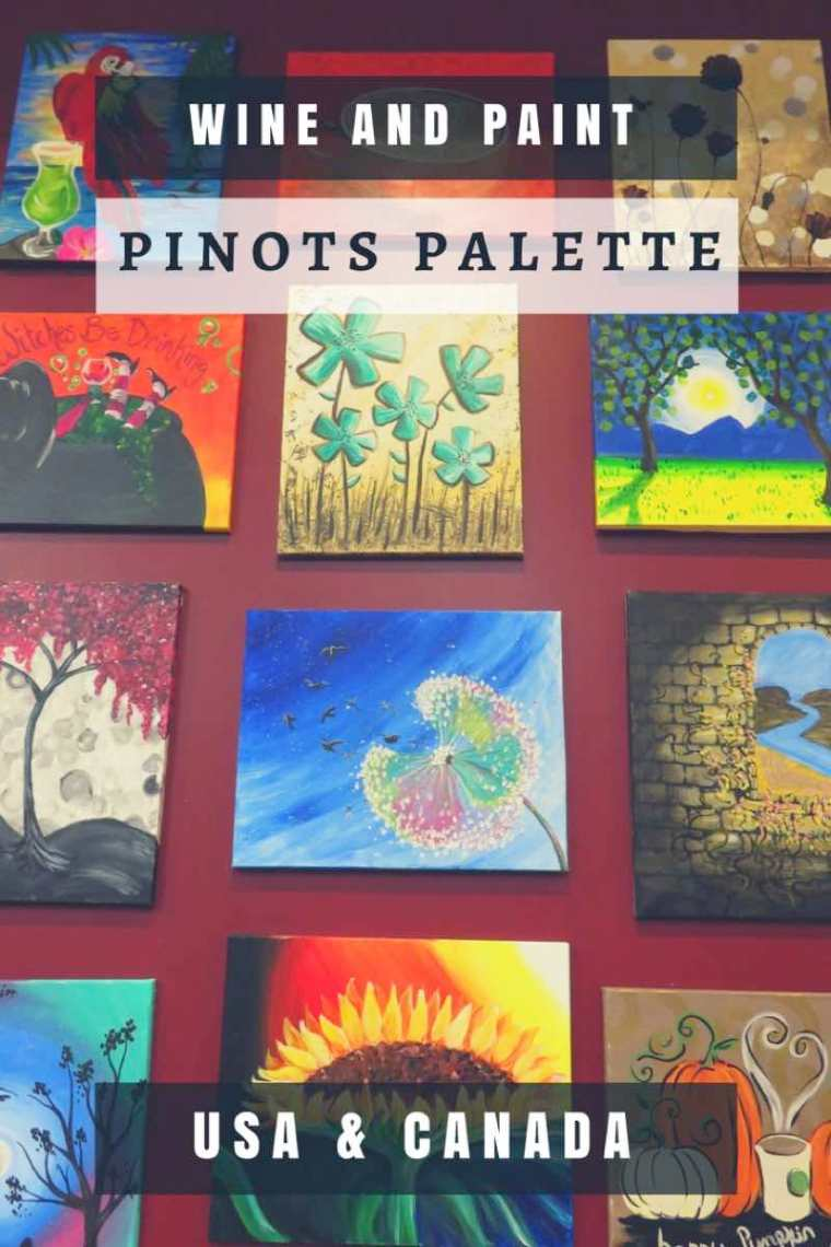 Pinots Palette Wine and Paint Studios in USA and Canada