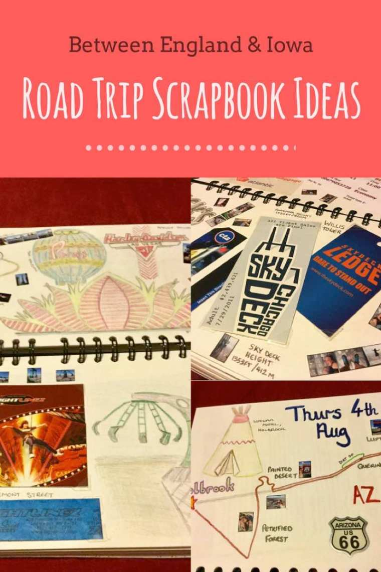 Road Trip Scrapbook Ideas. Things to including in a road trip scrapbook to document travel memories!
