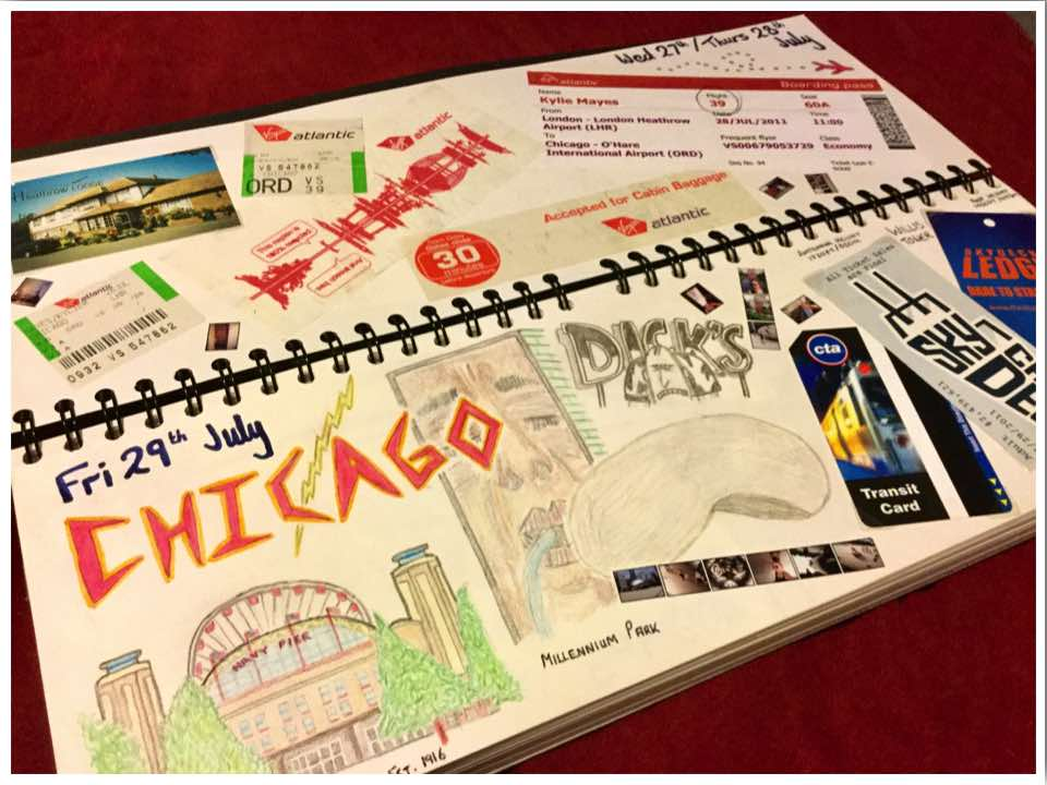Road Trip Scrapbook Pages