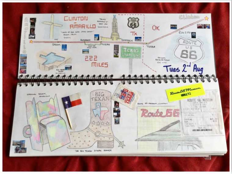 Road Trip Scrapbook Ideas