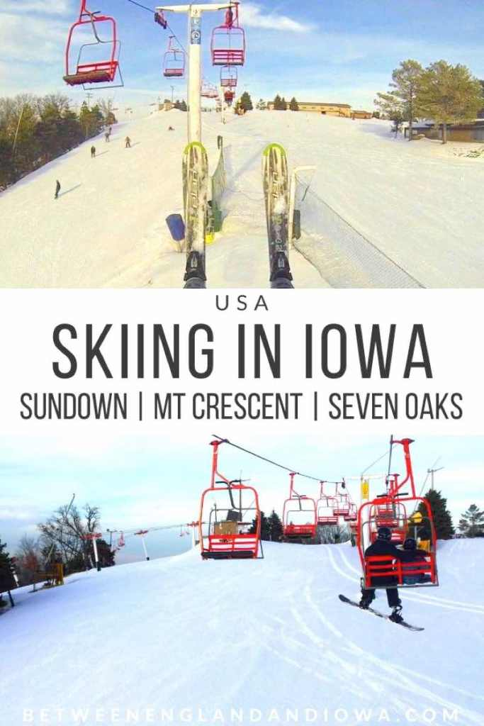 Skiing in Iowa USA. A guide to Ski Resorts in Iowa. Sundown Mountain | Mount Crescent | Seven Oaks