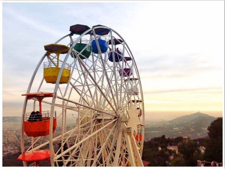 Tibidabo Skywalk Barcelona Spain