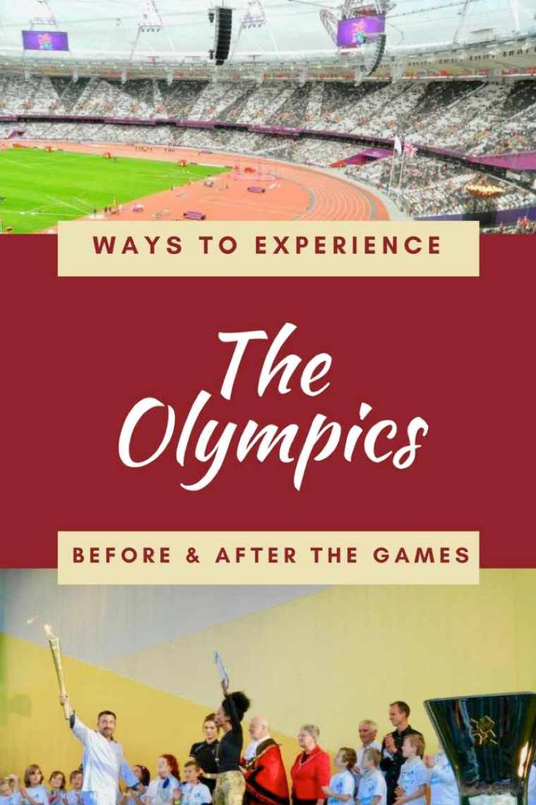 Ways to Experience The Olympics Before and After the Games. Seeing the Olympic Torch Relay and attending the Paralympics