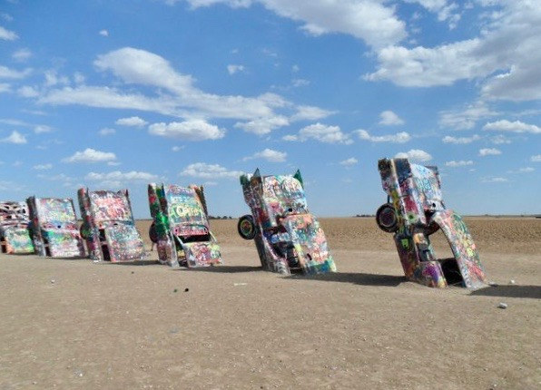 Route 66 Cadillac Ranch Texas Disney Cars Cadillac Range