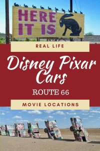 Real Life Route 66 Cars Movie Locations. Find out the places and people along Route 66 that inspired the Disney Pixar Movie Cars