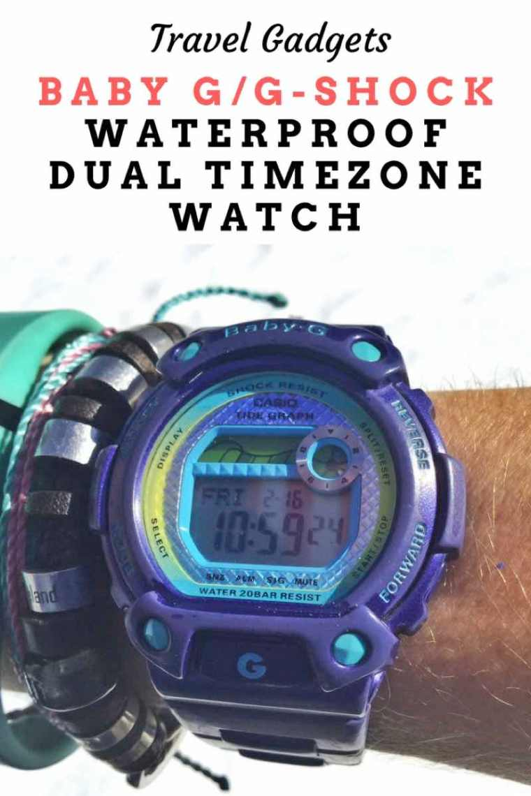 Looking for the perfect world traveler watch? I have been travelling with Baby G/G-Shock watches for 10 years! Check out my review my waterproof dual timezone watch!