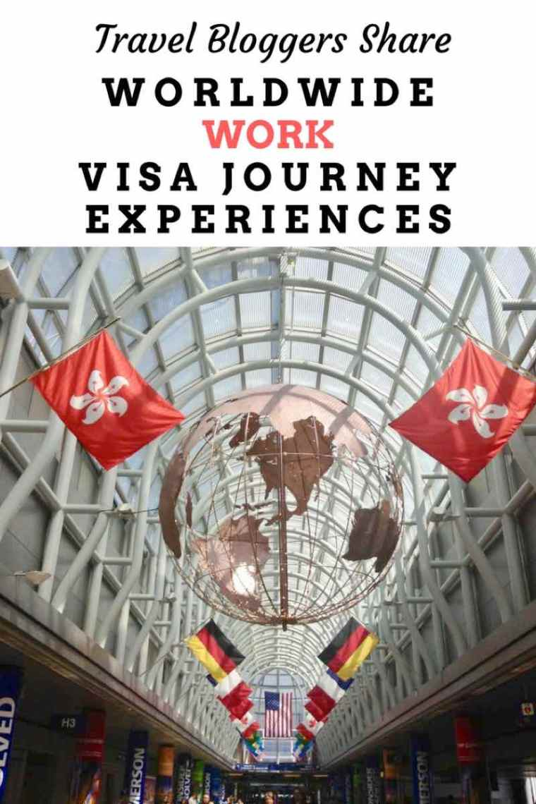 Dream of working abroad? Travel bloggers share their worldwide work visa journey experiences. Sharing tips and tricks on how to have a smooth process for obtaining a work visa!