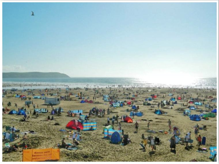 North Devon Woolacombe Beach Summer