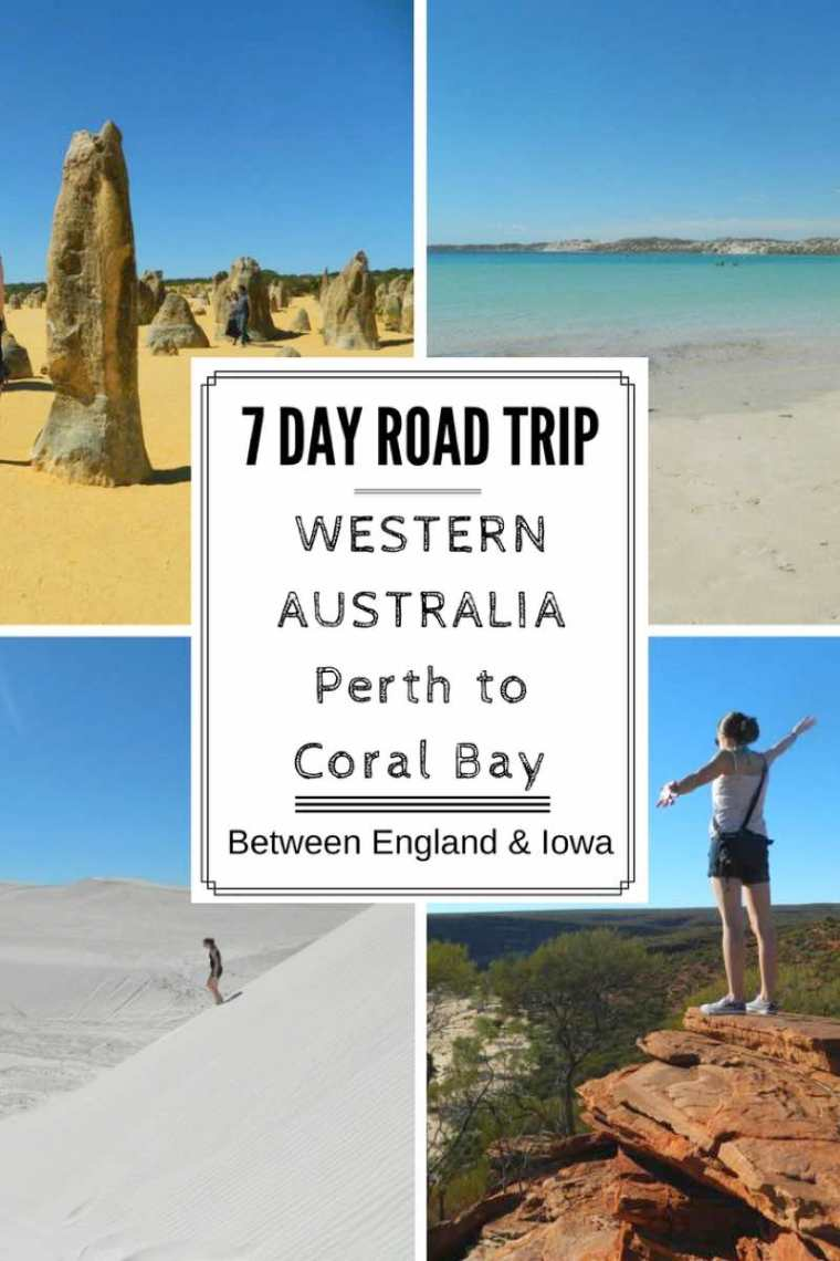 7 Day Western Australia Road Trip Itinerary Perth to Coral Bay