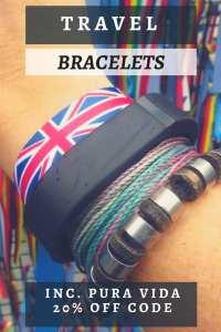 A look at my travel bracelets. My travel memories around my wrist!