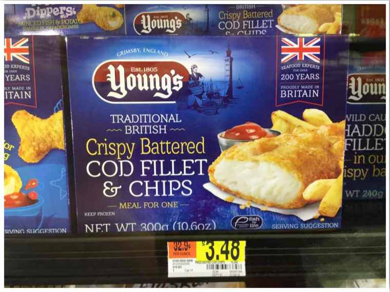 Walmart British Fish and Chips