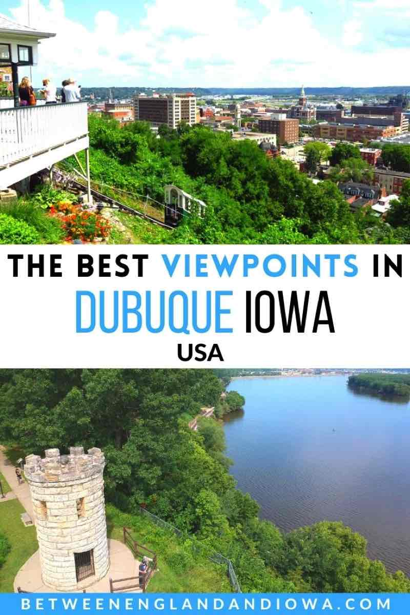 The best viewpoints in Dubuque Iowa USA