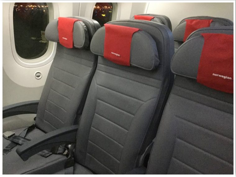Norwegian Airlines Economy Cabin