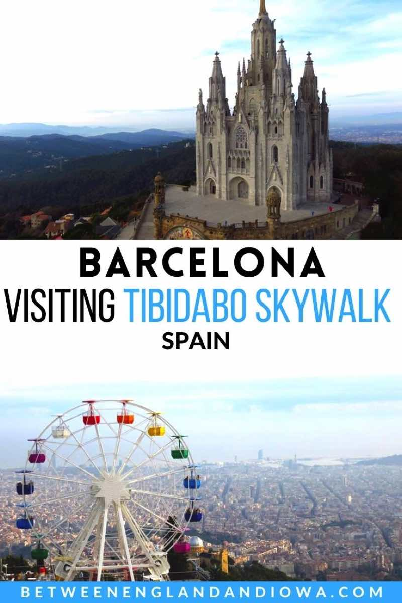 Tibidabo Skywalk Panoramic Area in Barcelona Spain