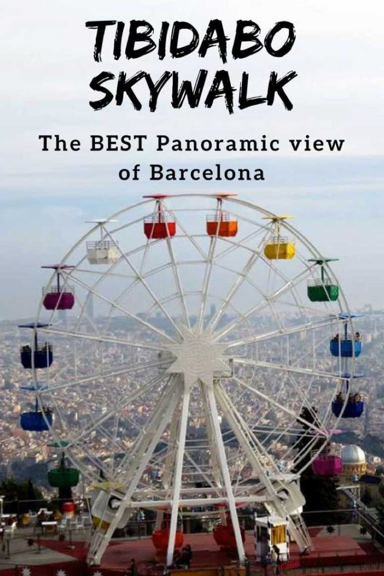 Tibidabo Skywalk Panoramic views of Barcelona Spain