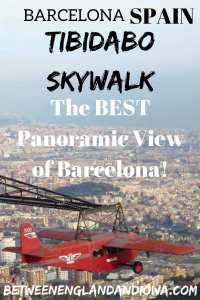Tibidabo Skywalk on Mount Tibidabo. The BEST panoramic view of Barcelona Spain!