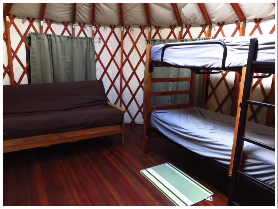 Clear Lake Yurt Inside