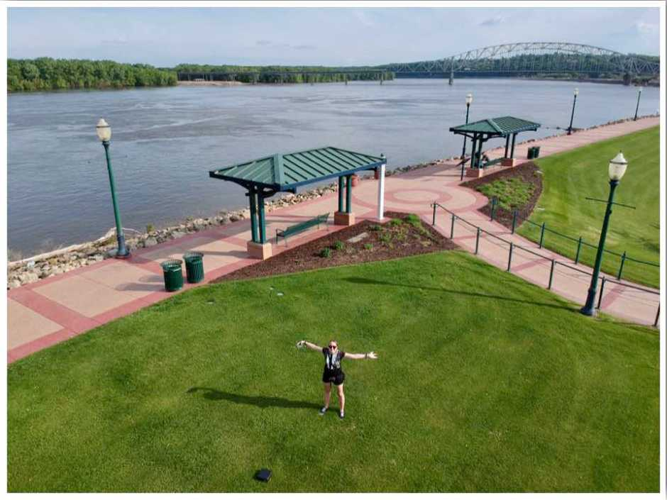 Mississippi River Walk Dubuque Iowa