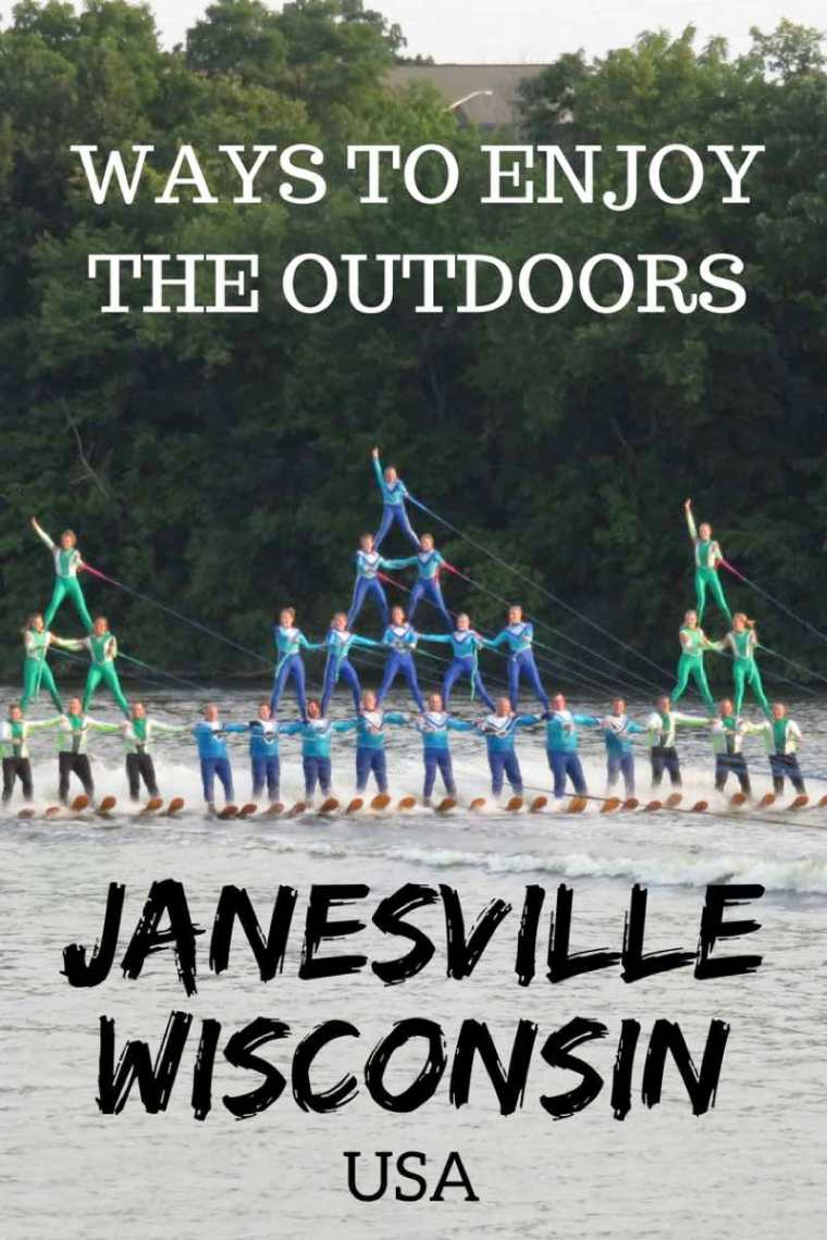 Ways to enjoy the outdoors in Janesville, Wisconsin USA! #Wisconsin