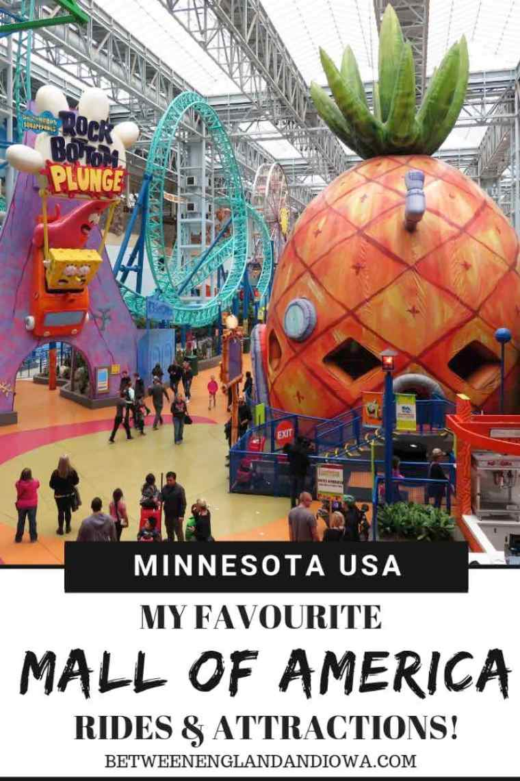 Things to do at the Mall of America in Bloomington Minnesota, including my favourite Mall of America rides and attractions!