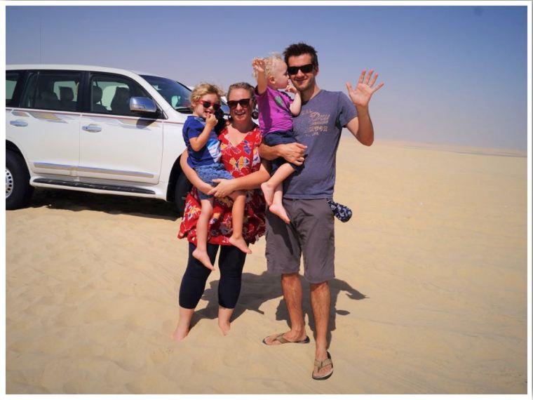 Qatar Sand Dunes TraveLynn Family