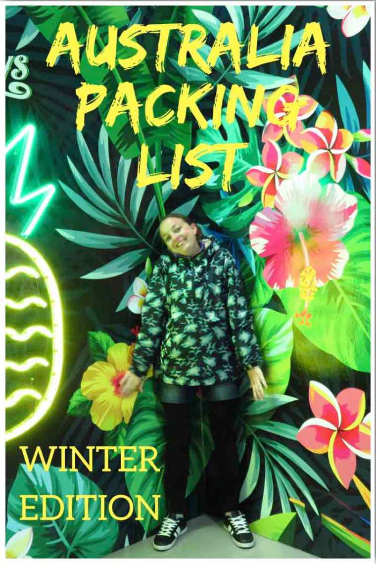 Australia Packing List. What to pack for Australia in the winter! 2 week Australia cabin baggage packing list