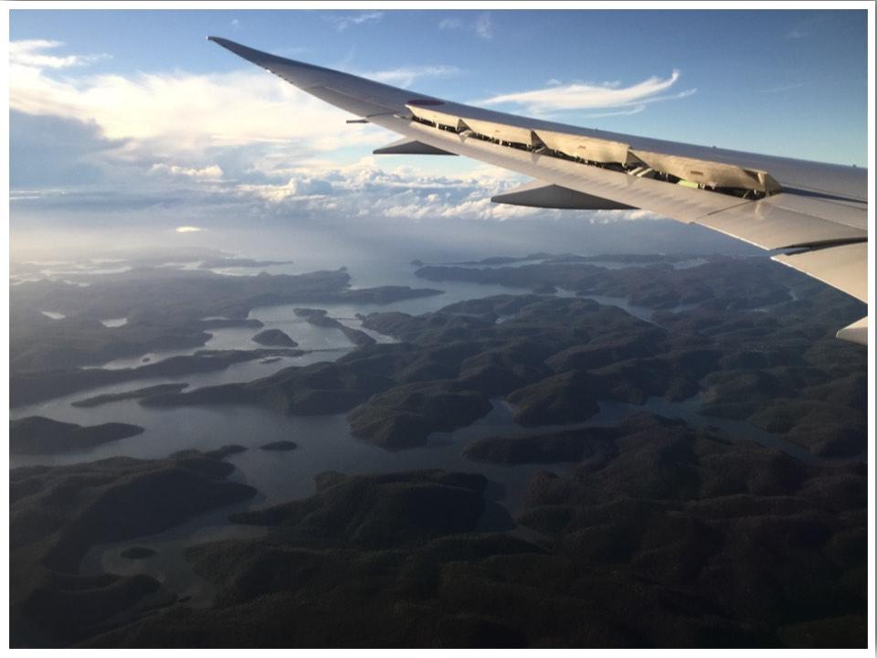 Australia landscape from plane window