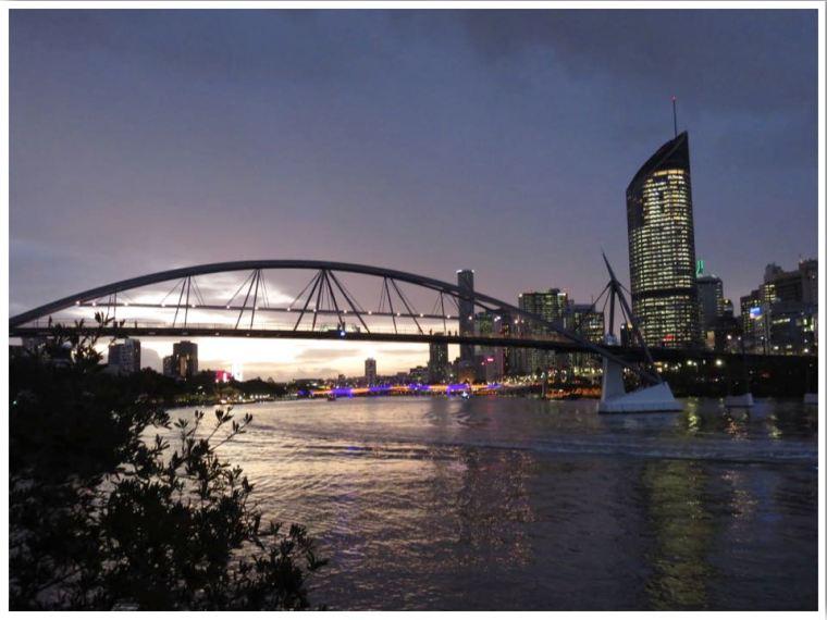Australia Road Trip Brisbane South Bank Night