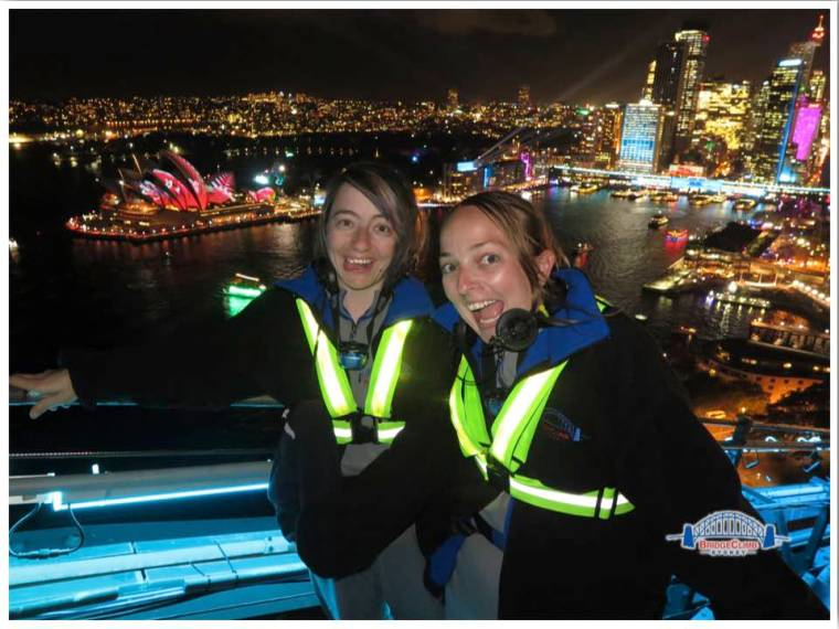 Vivid Sydney Bridge Climb