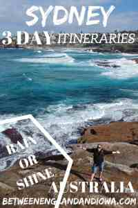 Sydney Itinerary 3 Days Australia. Heading to Sydney for 3 Days (or more)? I've got you covered with two 3 day Sydney itineraries for rain or shine!