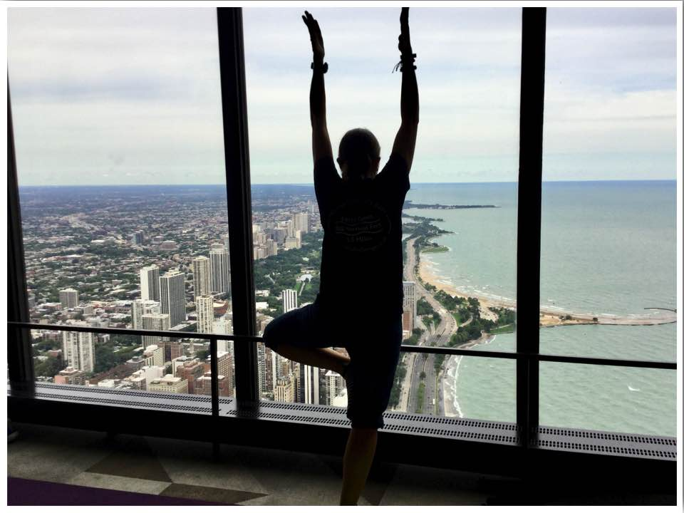 360 yoga at the John Hancock Observatory Chicago